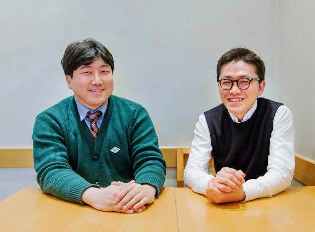 제약바이오CSR연구회 오세권 회장(오른쪽)과 김준형 총무. [김도균 객원기자]