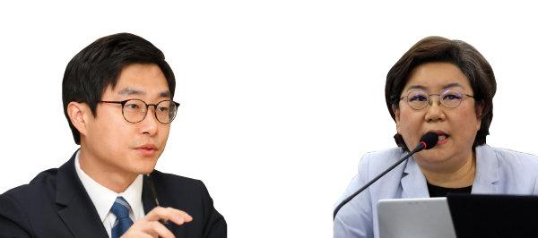 장경태(왼쪽). 이혜훈. [뉴스1, 김형우 기자]