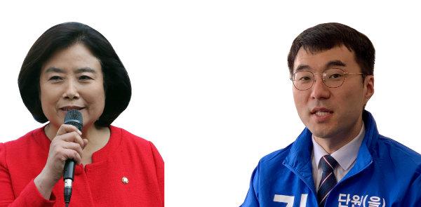 박순자(왼쪽). 김남국. [문영훈 기자, 양회성 동아일보 기자]