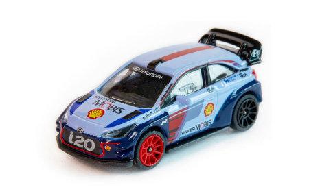 자동차경주대회 월드랠리챔피언십(World Rally Championship) 버전으로 제작된 미니카.