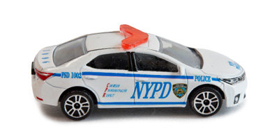 미니카로 재현한 미국 뉴욕 경찰차.