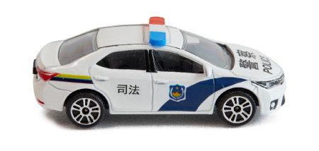 미니 중국 경찰차.