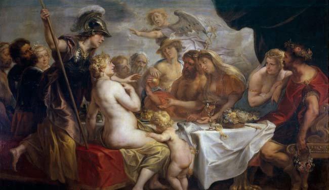 불화의 황금 사과, Jacob Jordaens, 1633