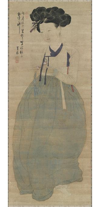 보물 제1973호 신윤복의 '미인도'. [문화재청 홈페이지]