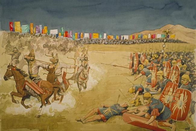 로마-파르티아 전쟁을 묘사한 그림. [Wikia 홈페이지]