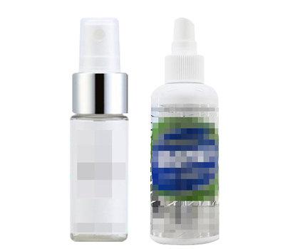 물건에 뿌리는 탈취제를 마스크 소독제 로 광고·판매한 B제품(왼쪽). 기구용 소독 제를 마스크 살균소독제 겸 손소독제라고 판매한 S제품.
