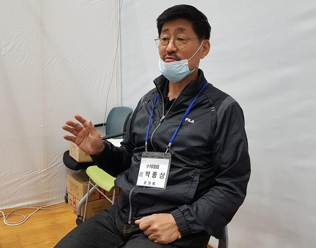 박종필 유가족대책위원회 수석대표. [최진렬 기자]