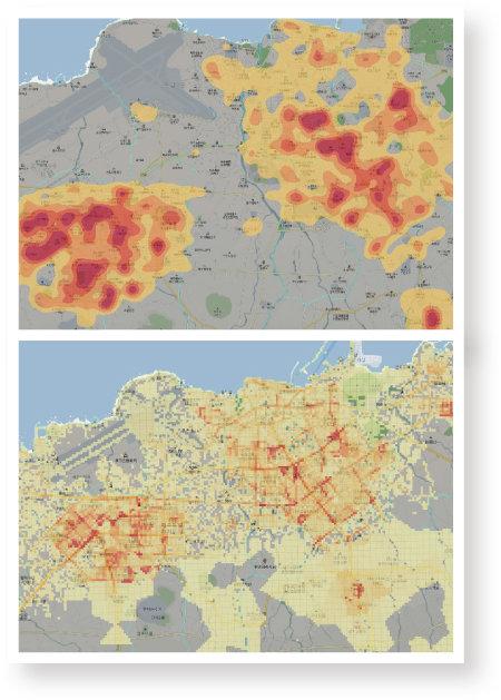 제주도는 와이파이 및 통신사 기지국 접속 데이터를 활용해 유동 인구를 분석한 뒤 방역 우선순위를 선정했다. [제주특별자치도 제공]