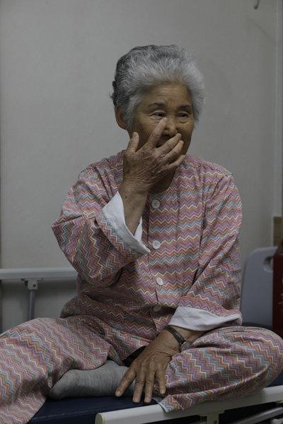 고(故) 민평기 상사의 어머니 윤청자 여사. [박해윤 기자]