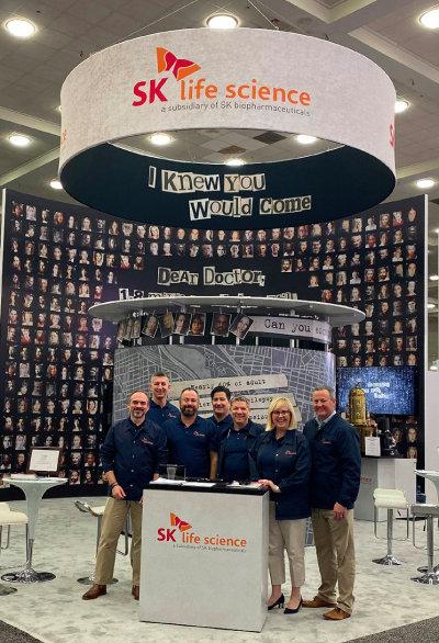 SK바이오팜 미국 법인 SK라이프사이언스가 2019년 12월 미국 메릴랜드주 볼티모어에서 열린 '2019 미국뇌전증학회 연례회의(AES)'에 참가한 모습. [SK바이오팜 제공]