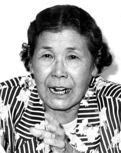 1991년 8월 14일 자신이 과거 일본군 '위안부' 였다는 사실을 처음으로 증언하며 위안부 문제를 공론화한 고(故) 김학순 할머니. [동아DB]