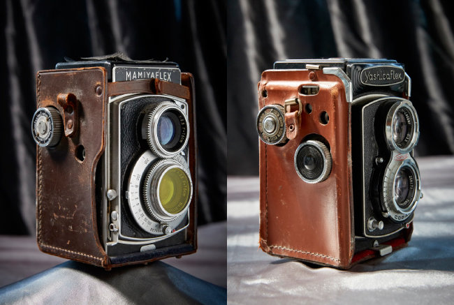 Mamiyaflex 일본에서 TLR이 인기를 모으던 1950년대 카메라(왼쪽).  Vest Pocket Autographic Kodak C(VPK Autographic C)  이 시리즈 카메라는 1915년부터 1926년까지 생산돼 세계적으로 175만 대가량이 팔렸다. 주머니에 들어갈 만큼 작은 크기와 저렴한 가격으로 많은 이의 사랑을 받았다.
