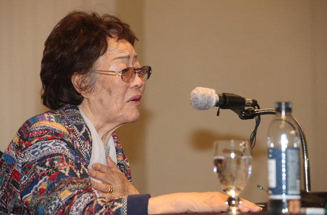 일본군 위안부 피해자 이용수 할머니. [뉴시스]