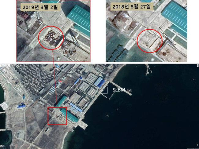 북한이 잠수함을 건조하는 함경남도 신포조선소.  [한국국방안보포럼 제공]