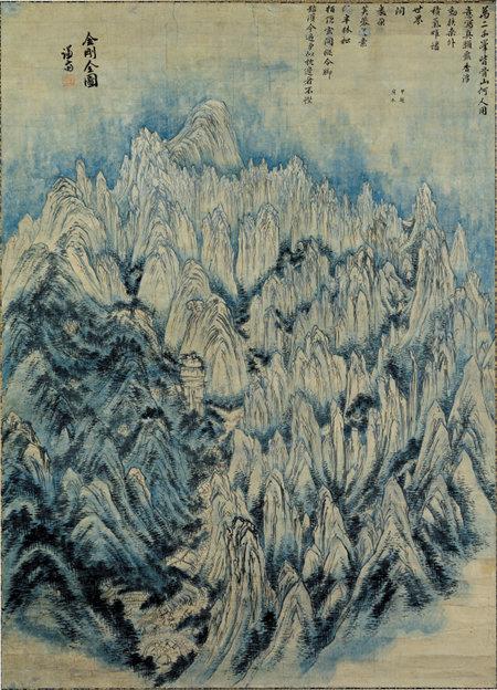 금강전도(金剛全圖) 외에도 정선은 금강산을 소재로 한 작품을 다수 그렸다. [삼성미술관 리움 제공]