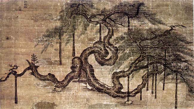 오래된 소나무를 그린 사직노송도(社稷老松圖). [고려대학교 박물관 제공]