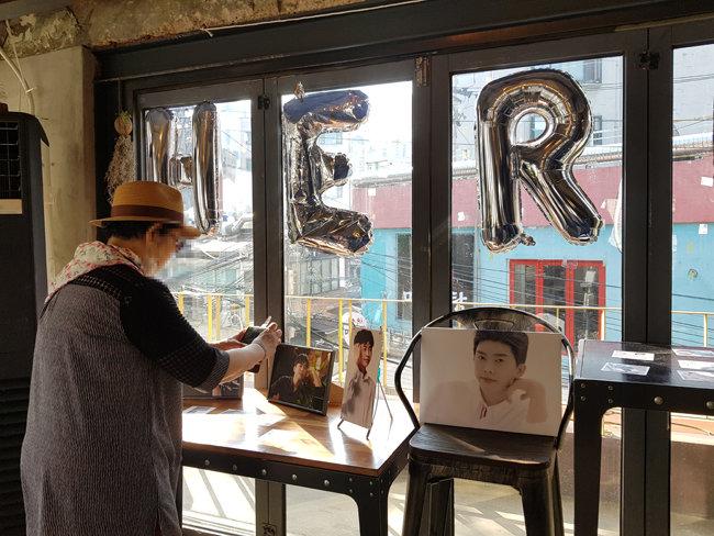 서울 마포구 홍대 인근 한 카페에서 열린 가수 임영웅 생일 이벤트. [장윤서 제공]