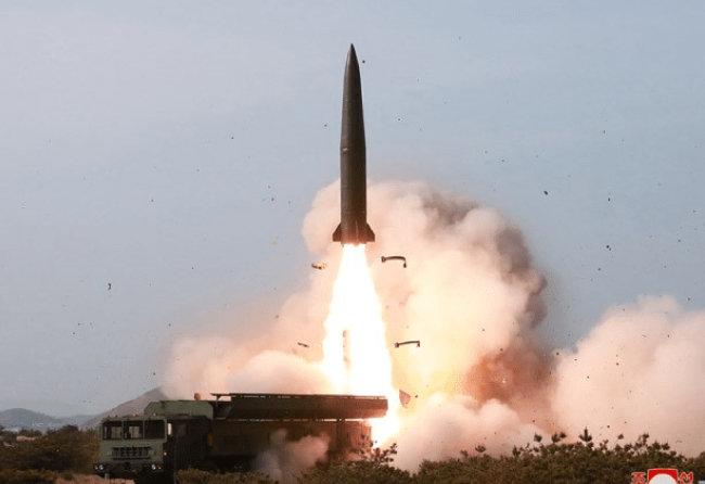 북한판 이스칸데르 미사일 KN-23. [조선중앙통신]