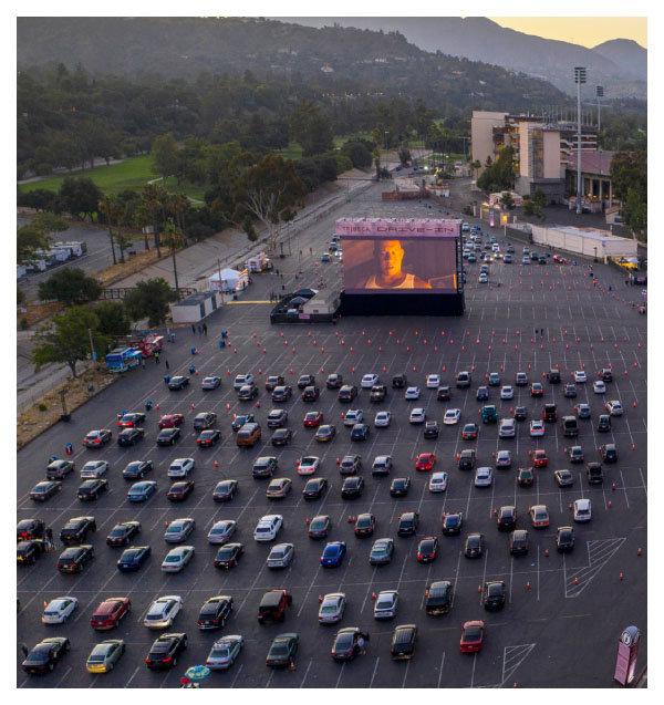 미국 캘리포니아의 자동차 극장 풍경. [GettyImage]