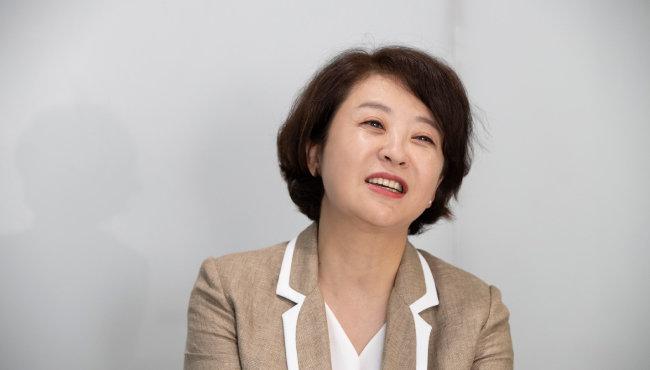 """윤정원 이노핏파트너스 대표는 """"기업 경영자와 구성원이 디지털 역량을 기르면 '가성비 있는 DT'를 할 수 있다""""고 밝혔다. [지호영 기자]"""