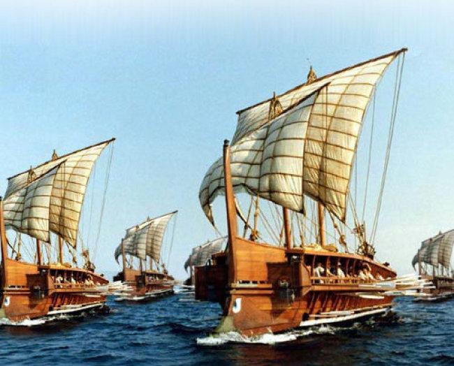 현대 그리스 해군이 제작한 복제 삼단노선 올림피아스 호. [미국연방정부 홈페이지]