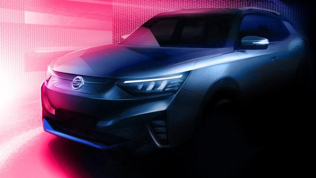 쌍용자동차가 7월 20일 공개한 전기차 모델 'E100' 티저 이미지. [쌍용자동차 제공]
