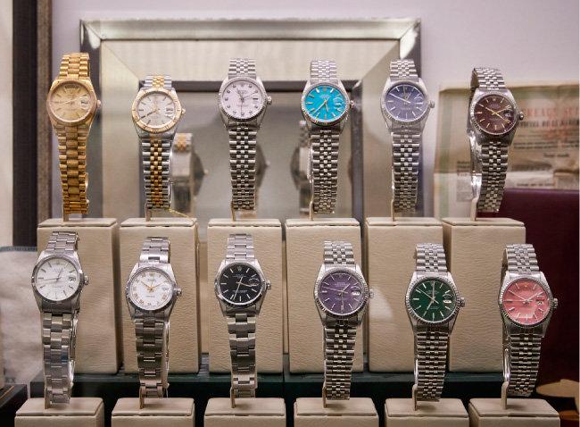 1960~70년대 빈티지 롤렉스 DATE JUST 커스텀 모델들.