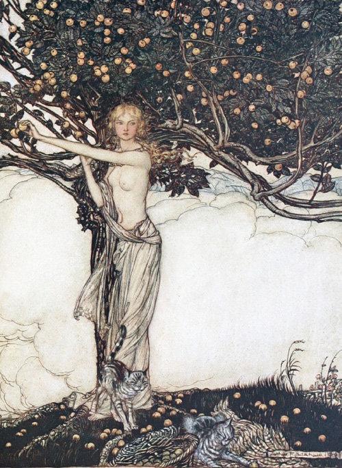 프라이아, Arthur Rackham, 1910.