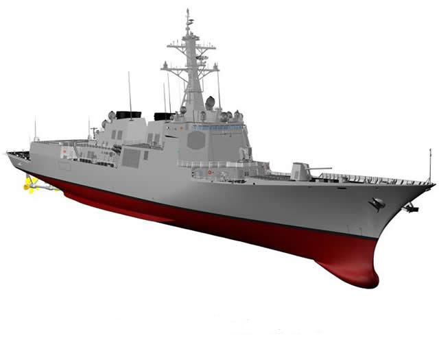 한국형 차기 구축함 KDDX 모형. [방위사업청 제공]