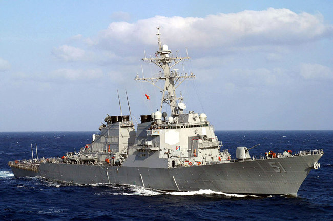 미국 해군 알레이버크 이지스함. [미국 해군 제공]