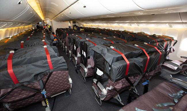 6월 11일 대한항공은 기내에 '카고 시트 백(cargo seat bag)'을 장착한 보잉 777 여객기로 인천국제공항에서 미국 시카고까지 화물을 운송했다. [대한항공 제공]