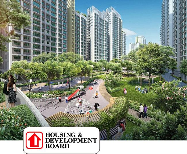 싱가포르 주택개발청이 공급하는  공공주택 조감도.