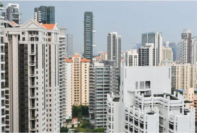 싱가포르의 민간주택 경관.