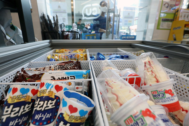 편의점에서 판매되는 아이스크림 [뉴스1]