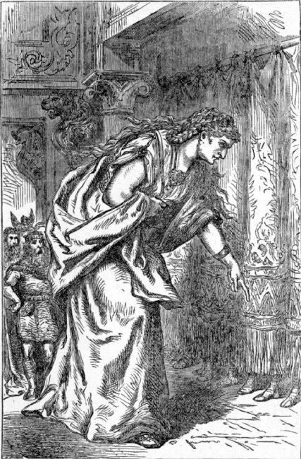발을 보고 남편을 고르는 스카디, Louis Huard, 1893.