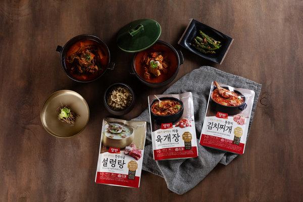 동원F&B '양반 국·탕·찌개' 제품은 기존 방식 대비 열처리 시간을 20% 이상 단축시켜 재료 본연의 맛과 식감을 살렸다. [동원F&B 제공]