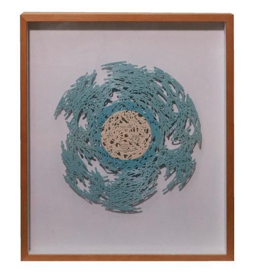 조현수 작가가 가수 유재하 독집 재킷을 보고 창작한 미술작품. 제목은 'Long-playing Record'다.