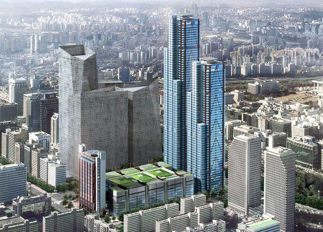 2021년 서울 영등포구 여의도 파크원에 들어설 현대 여의도점(가칭)은 서울 최대 규모 백화점이다. [동아DB]