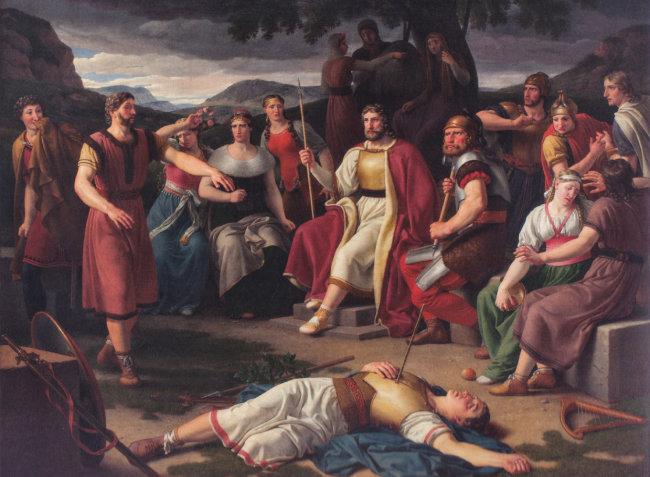 발데르의 죽음, Christoffer Wilhelm Eckersberg, 1817