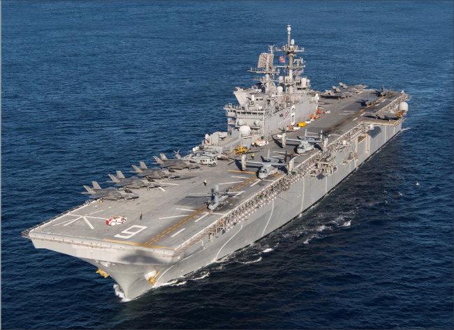 미국 아메리카급 강습상륙함(LHA-6). [미국 해군 제공]