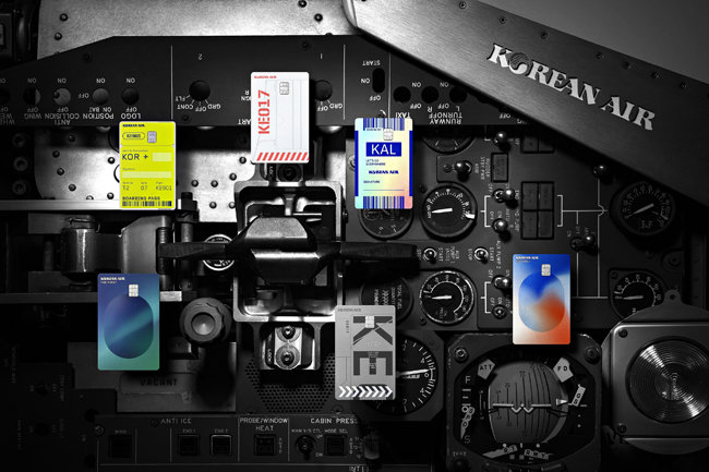 현대카드와 대한항공이 선보인 '대한항공 카드'. [현대카드 제공]