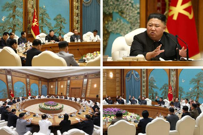 김정은 북한 국무위원장이 10월 5일 제7기 제19차 정치국 회의를 주재했다고 노동당 기관지 노동신문이 6일 보도했다. [평양 노동신문=뉴스1]
