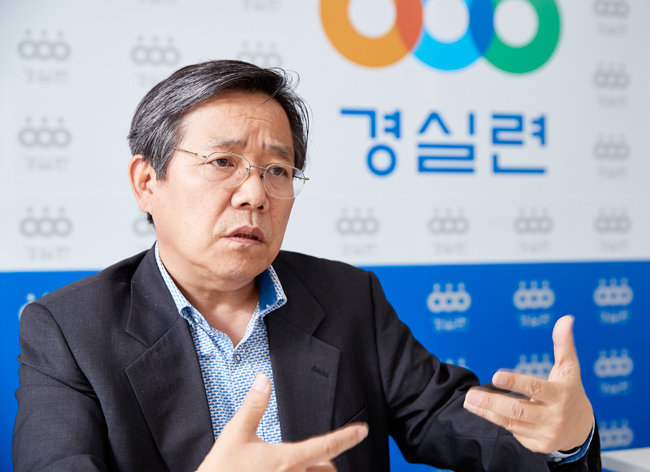 김헌동 경제정의실천시민연합 부동산건설개혁본부장. [홍중식 기자]