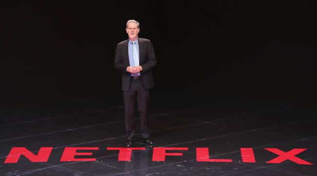 리드 헤이스팅스 넷플릭스 최고경영자(CEO)가 2019년 11월 25일 '2019 한-아세안 특별 정상회의'에서 발표하고 있다. [뉴스1]