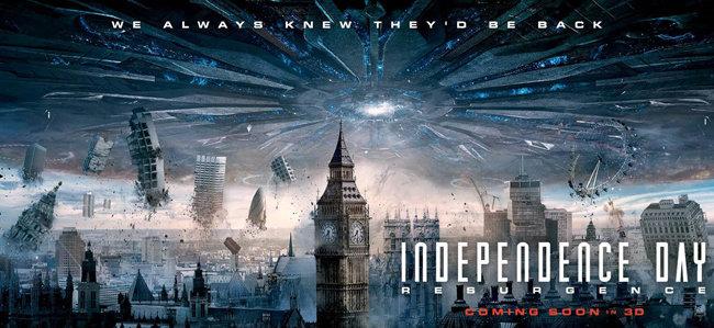 영화 '인디펜던스 데이 리써전스,2016' 포스터. [Twentieth Century Fox]