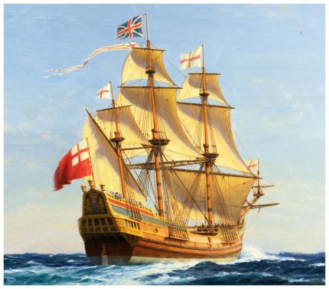 영국 갈레온 선박. ['Bermuda 100' 홈페이지]