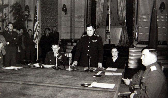 1946년 열린 제1차 미소공동위원회 회의. [미디어한국학 제공]