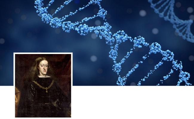 유럽에서는 혈통을 유지하기 위한 근친결혼이 많았다. 근친혼으로 인해 나타나는 유전병 '합스부르크립(주걱턱)'에 걸린 스페인 카를로스 2세. [GettyImage]