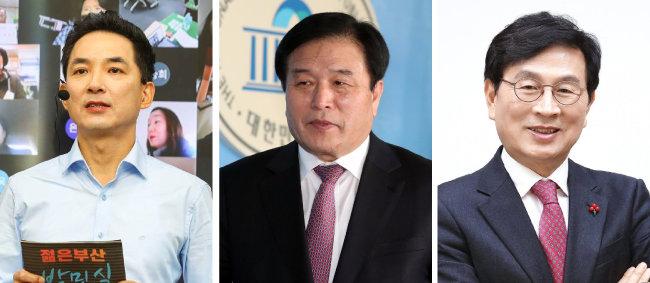 국민의힘 박민식·이진복·유재중 전 의원(왼쪽부터).