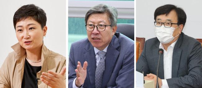 국민의힘 이언주 전 의원, 박형준 전 국회사무총장, 서병수 의원(왼쪽부터).